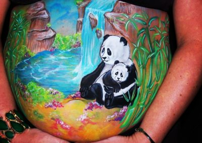 Prenatal Belly Painting - Bling it on Parties