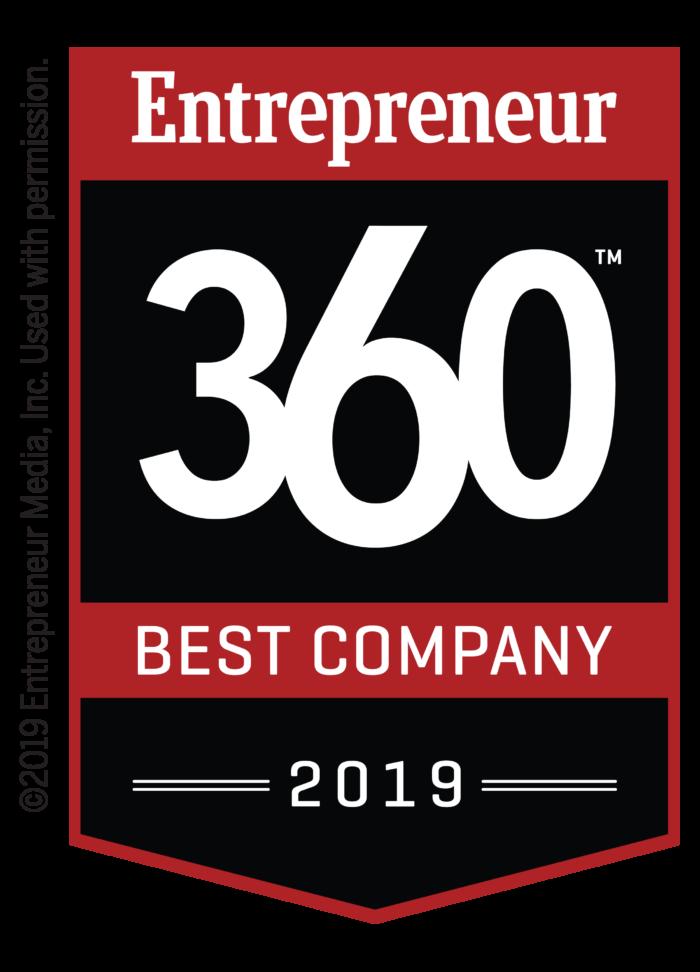 Entrepreneur 360 Best Company 2019