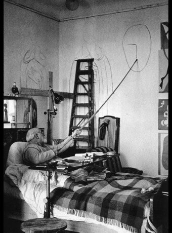 Henri Matisse in bed with the flu