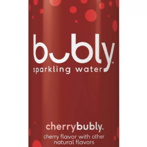 bubly cherry flavored water