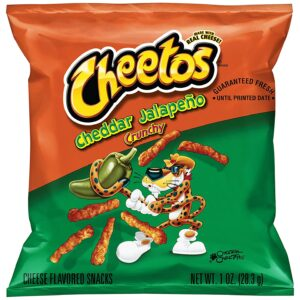 Cheetos Cheddar Jalapeno Crunchy Cheese Snacks