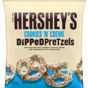 hersheys cookies and creme dipped pretzels