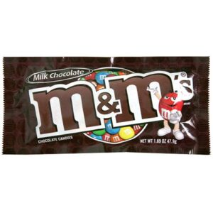 m&ms plain chocolate candies