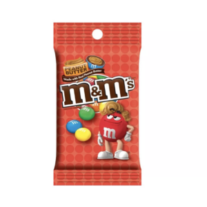peanut butter m&m peg bag