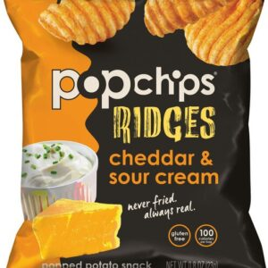 Popchips Ridges Cheddar Sour Cream Potato Snack