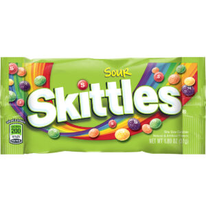 sour skittles fruit flavored candy