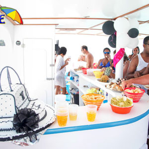 buffet on the boat