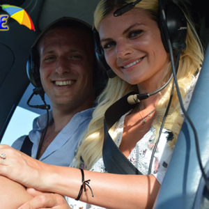 couple in helicopter
