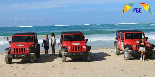 jeep at macao beach