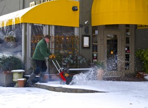 After one of this past winter's snowstorms, Murphy's used a snow-blower to clear a path for customers looking for a place to eat.