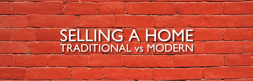 Selling a home modern vs traditional