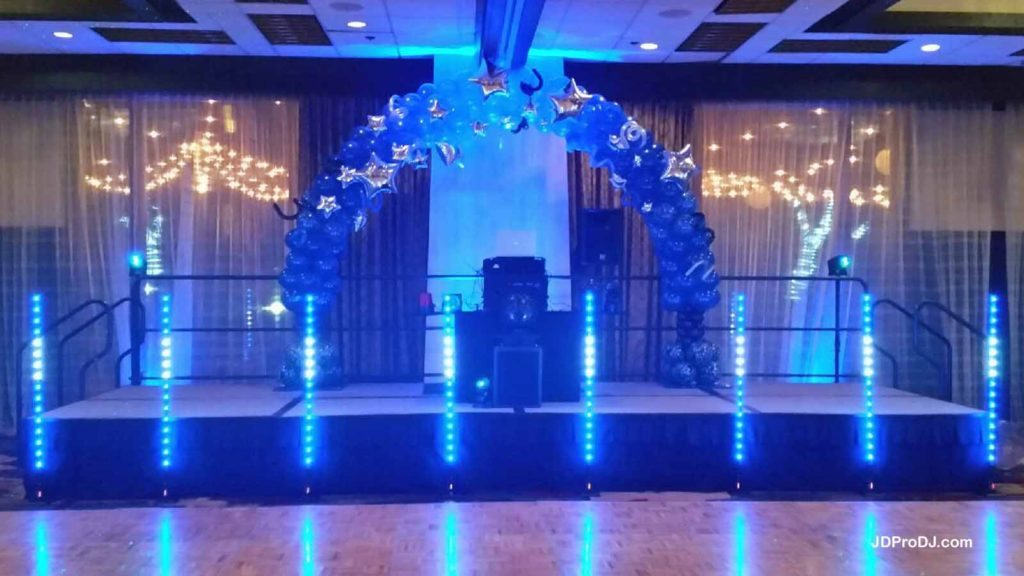 5' Wireless LED Columns 6 (& Uplighting)