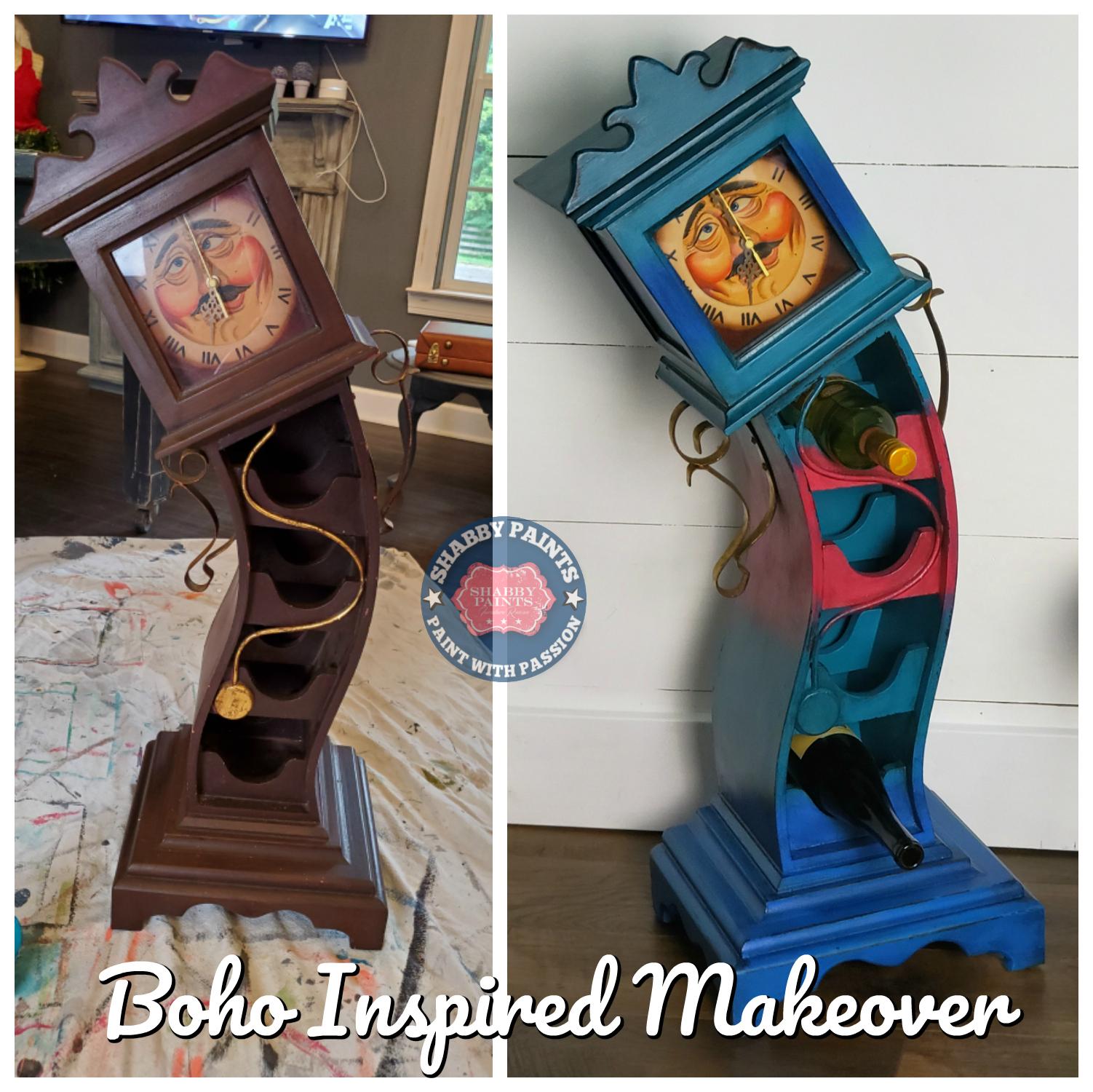 Boho Inspired Drunken Grandfather Clock