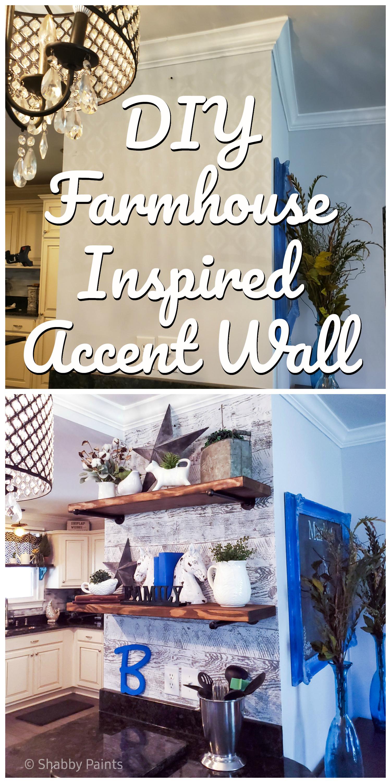 Modern Farmhouse Accent Wall & Shelves