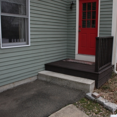 Before paver step and landing 1
