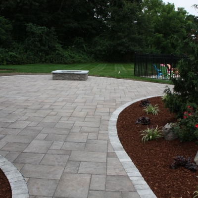 After walkway and patio firepit 1