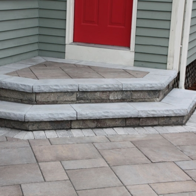 After paver step and landing 1