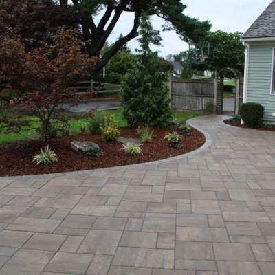 After walkway, patio, firepit 2