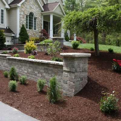 After Retaining Wall and Granite Steps