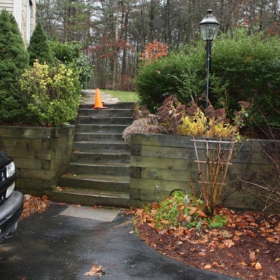 Before Retaining Wall, Granite Steps
