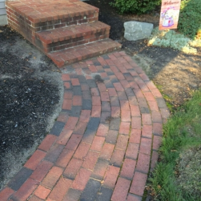 Before brick walkway