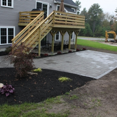 Patio and planting