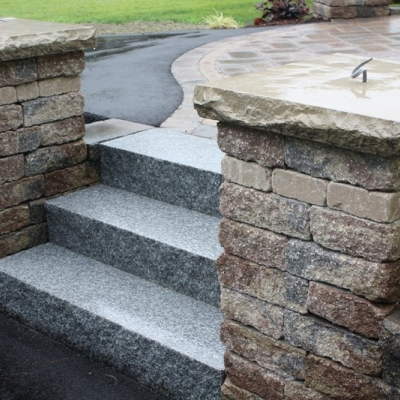 Granite Steps and Piers