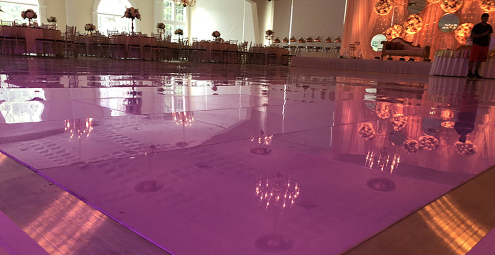 White Dance Floor Installation