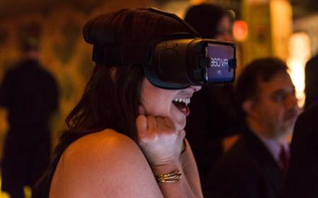 Lady Enjoying VR Experience