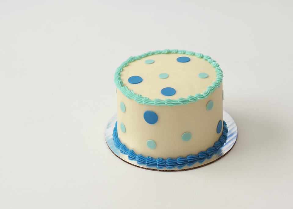 smash cake blue