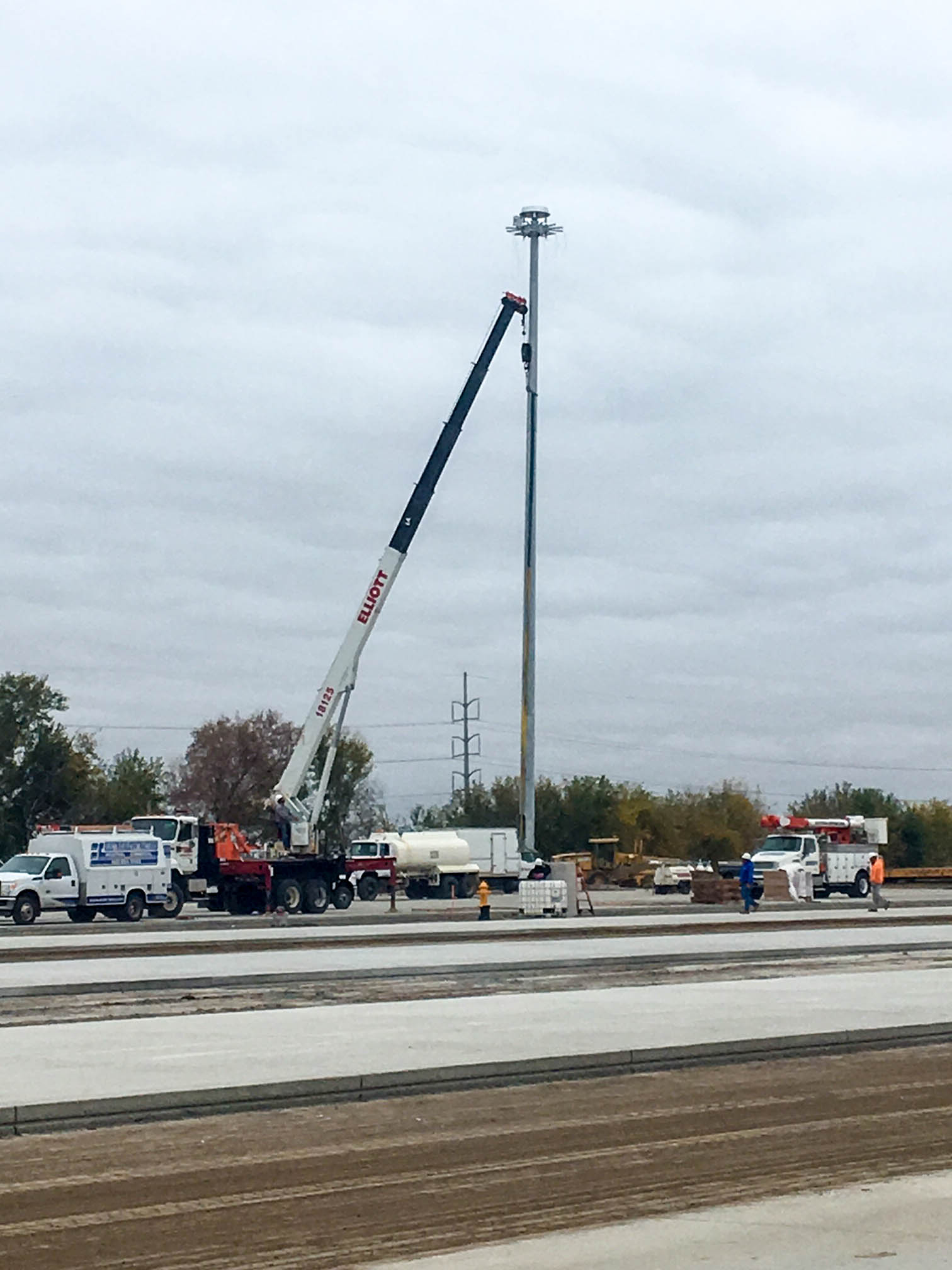 High Mast Light Pole Installation