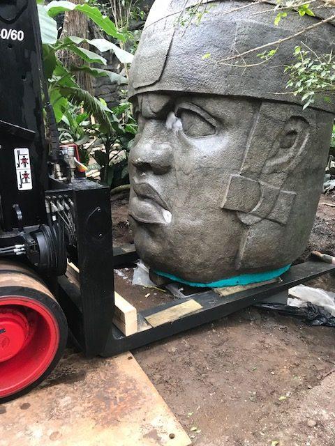 Olmec head – Omaha Zoo