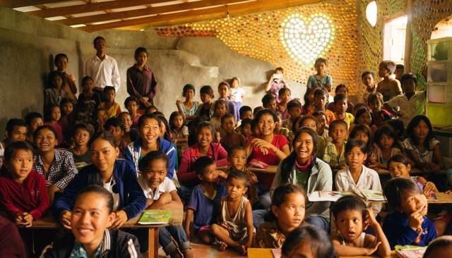 Students at a Cambodian School