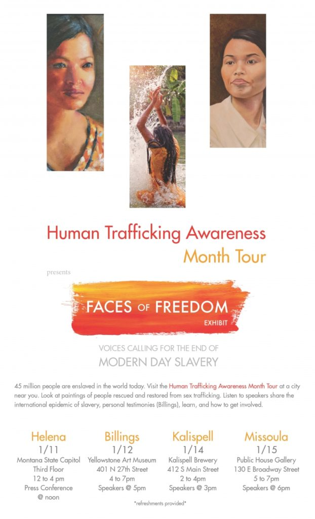 Faces of Freedom Exhibit - Whitefish Soroptimist