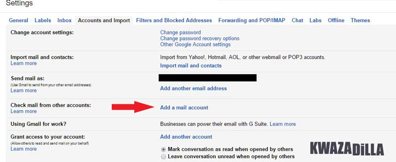 Gmail Settings, Accounts and Import