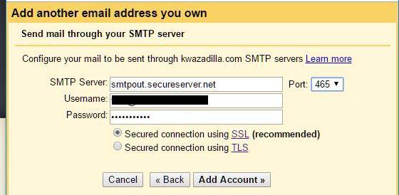 add smtp server to gmail