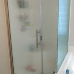 Arizon Shower doors newest frameless shower door in rain glass