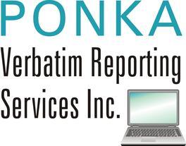 Ponka Verbatim Reporting Services inc.