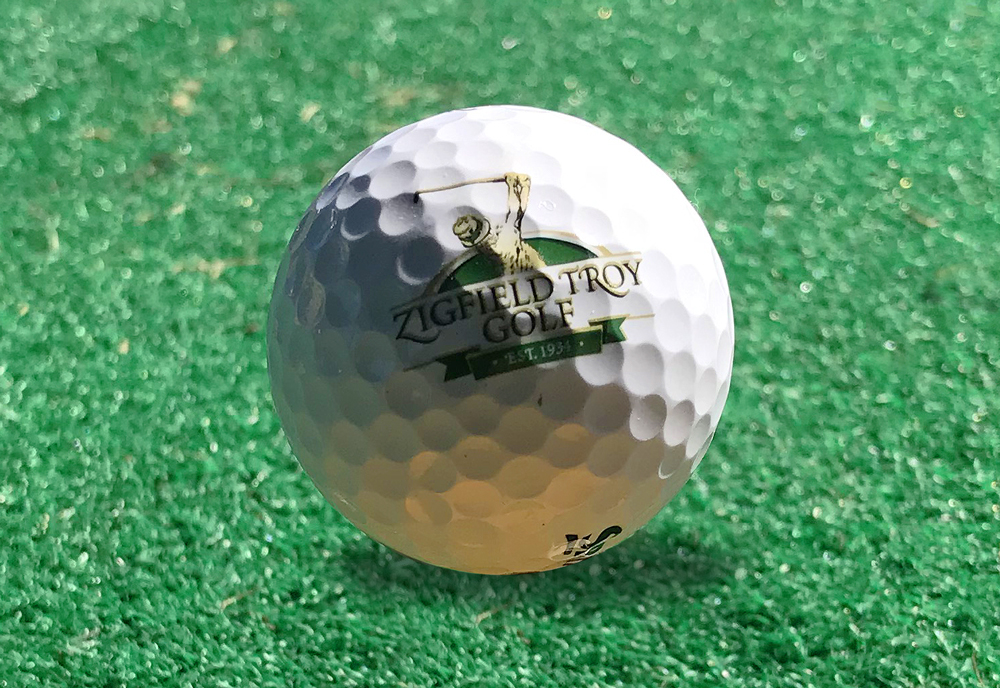 Zigfield Troy Logo Golf Ball