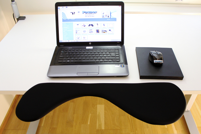 computer arm rest with ergonomic mouse pad
