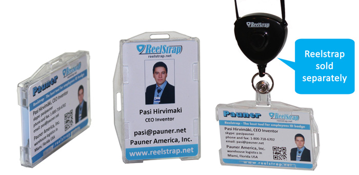 badge holder double sided transparent clear