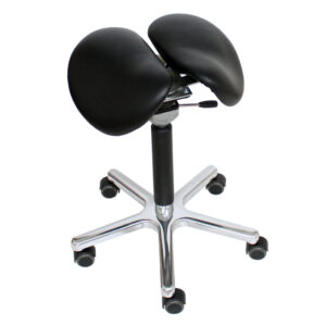 task chair two part saddle stool