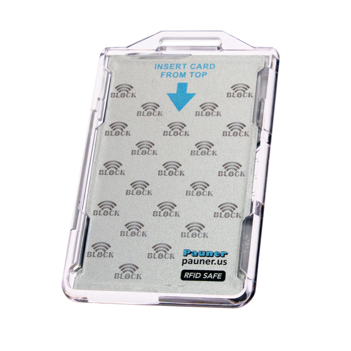 cac card holder for hspd 12 twic card with rfid blocking feature