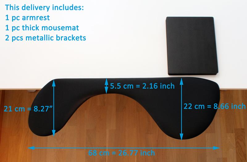 ergonomic mouse pad wrist rest computer arm rest