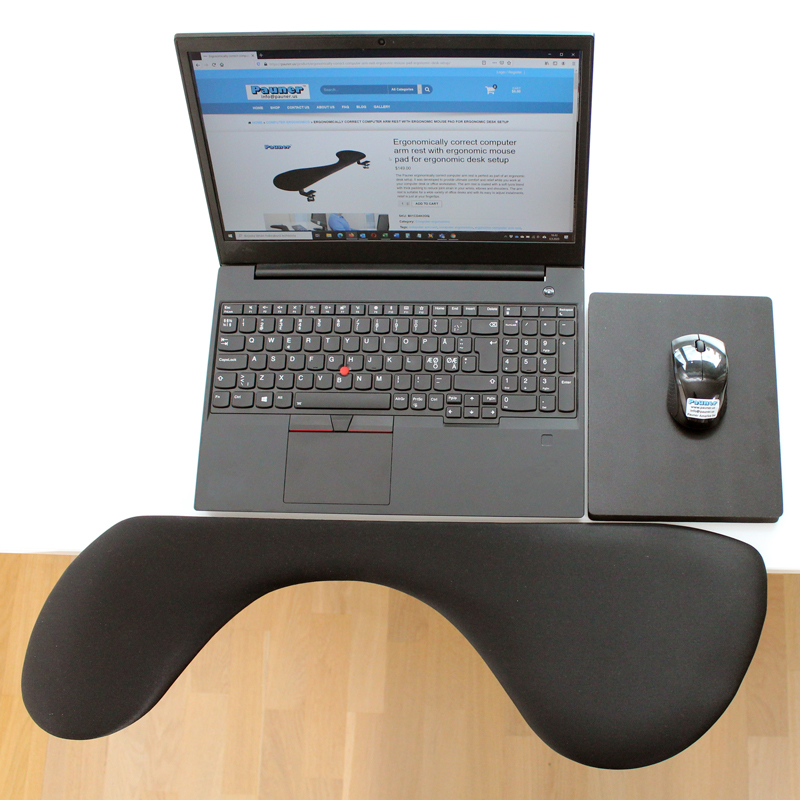 remote desktop telework ergonomic mouse pad wrist rests mouse pad with wrist support