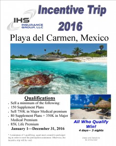 Incentive Trip 2016 - Playa del Carmen Flyer