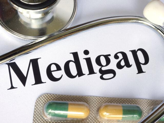 Medigap written on a paper.