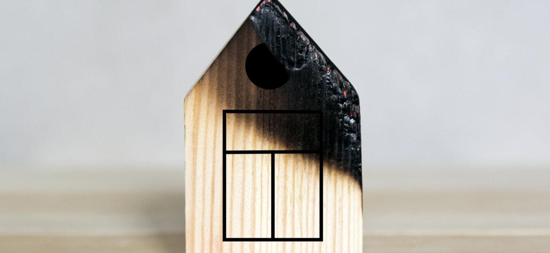 Apartment building fire, conceptual photo.