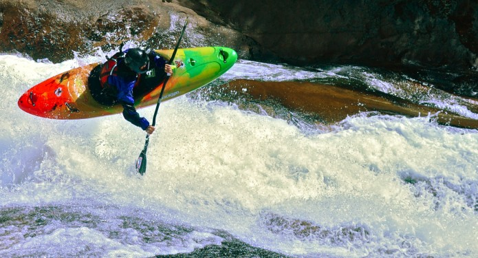 """Chile. The Ultimate Kayak Destination. We actually walk back up to lap the """"Cali Slide."""""""