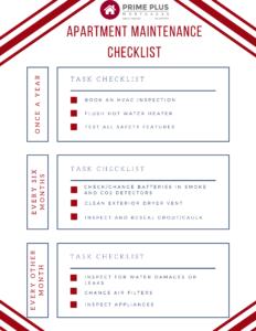 apartment maintenance checklist